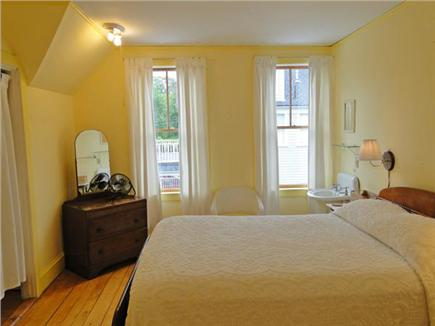 Vineyard Haven Martha's Vineyard vacation rental - Double bedroom upstairs, recently refinished floors, with sink