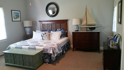 Edgartown Martha's Vineyard vacation rental - 1st floor master bedroom with sitting area/ pullout twin bed
