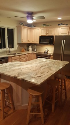 Edgartown Martha's Vineyard vacation rental - New fully equipped kitchen w S/S appliances, stone counters