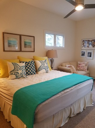Edgartown Martha's Vineyard vacation rental - 2nd floor master w ensuite bathroom, sitting area w/pullout twin