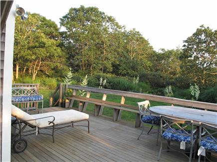 Edgartown Martha's Vineyard vacation rental - Deck for dining