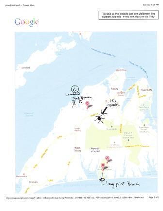 West Tisbury  near State Fores Martha's Vineyard vacation rental - Map