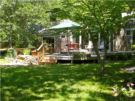 West Tisbury  near State Fores Martha's Vineyard vacation rental - Deck with pond