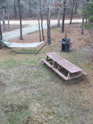 Edgartown Martha's Vineyard vacation rental - Two picnic tables & gas grill on side lawn.  Hammock to chill out