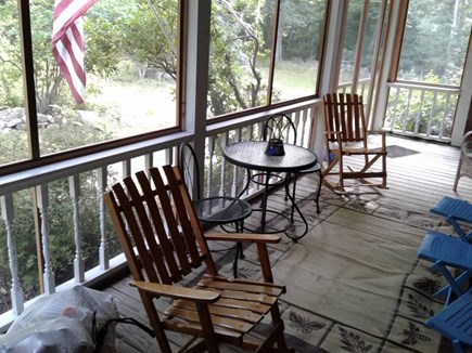 West Tisbury, Longview Community Martha's Vineyard vacation rental - Screened farmers porch
