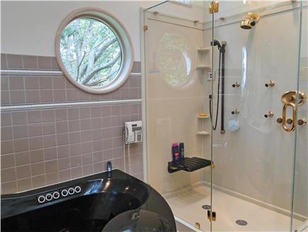 West Tisbury Martha's Vineyard vacation rental - Bathroom with walk in shower, Jacuzzi tub