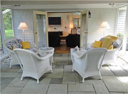 West Tisbury Martha's Vineyard vacation rental - Spacious sun porch, opens to back yard