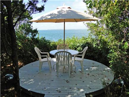 West Tisbury Martha's Vineyard vacation rental - What a spot! Sit & enjoy morning coffee overlooking private beach
