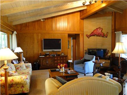 West Tisbury Martha's Vineyard vacation rental - Large family room, with water views