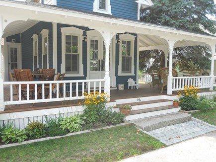 Oak Bluffs Martha's Vineyard vacation rental - Front porch and gardens