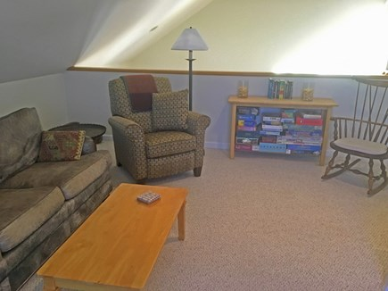 Edgartown Martha's Vineyard vacation rental - Loft TV room with slider to upper deck
