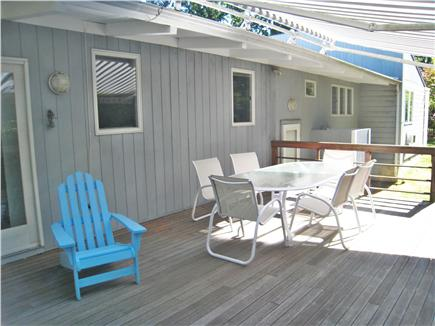 Vineyard Haven Martha's Vineyard vacation rental - Deck with retractable awning
