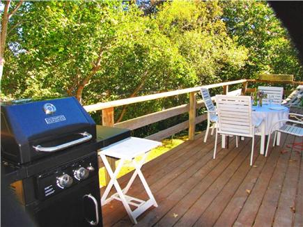 Vineyard Haven Martha's Vineyard vacation rental - Deck with gas grill and lounge chairs and chaise lounge