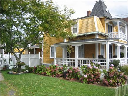 Oak Bluffs Martha's Vineyard vacation rental - House from the left with flowered yard