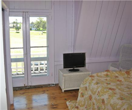 Oak Bluffs Martha's Vineyard vacation rental - Bedroom 1 with private balcony overlooking the park & the Sound
