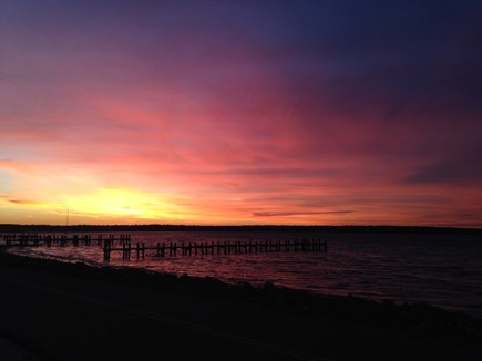 Oak Bluffs Martha's Vineyard vacation rental - Sunset from East Chop drive, just a short walk from the house