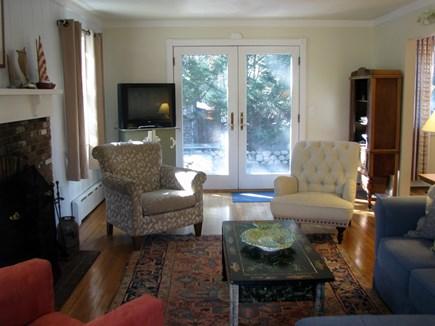 Edgartown village Center Martha's Vineyard vacation rental - French Doors in Living Room