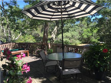 Edgartown Martha's Vineyard vacation rental - Front deck off of kitchen/living room