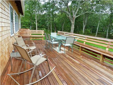 Oak Bluffs Martha's Vineyard vacation rental - Enjoy a meal outside, 28 x 12 porch with bench rail!!