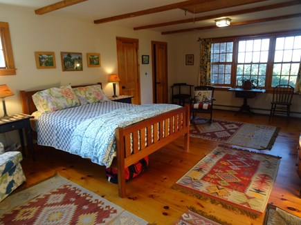 Aquinnah Martha's Vineyard vacation rental - Upstairs master bedroom, private bath, private stairs, waterview
