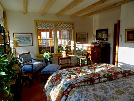Aquinnah Martha's Vineyard vacation rental - Downstairs queen bedroom, private door to shared full bath