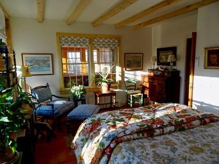 Aquinnah Martha's Vineyard vacation rental - Downstairs queen bedroom, private door to shared full bath