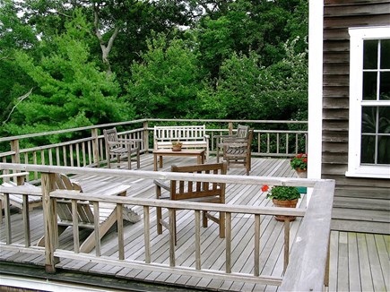 Aquinnah Martha's Vineyard vacation rental - North deck, off living room and Wicker Room