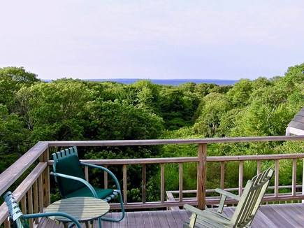 Aquinnah Martha's Vineyard vacation rental - Waterview/upper deck shared by twin room & west-facing queen room