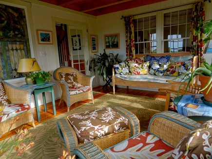 Aquinnah Martha's Vineyard vacation rental - Wicker Room provides great afternoon sun