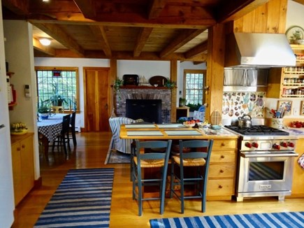 Aquinnah Martha's Vineyard vacation rental - Country kitchen, fully equipped, flows to Family Room and dining