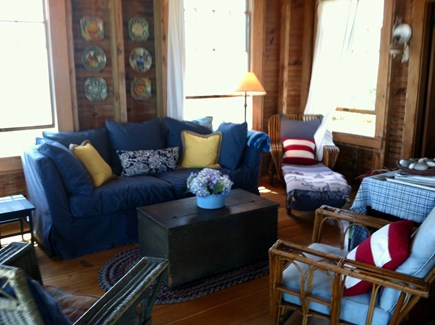 Stonewall Beach, Chilmark Martha's Vineyard vacation rental - Comfortable living room with views from every window.