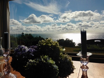 Stonewall Beach, Chilmark Martha's Vineyard vacation rental - View from the dining room table.