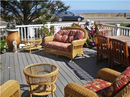 Oak Bluffs, Sea View Ave. just out of town Martha's Vineyard vacation rental - Deck and view of Nantucket Sound