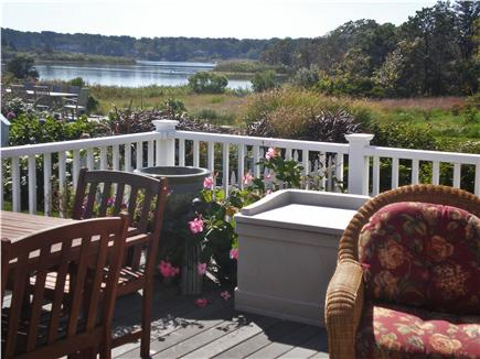 Oak Bluffs, Sea View Ave. just out of town Martha's Vineyard vacation rental - View of Farm Pond from the deck