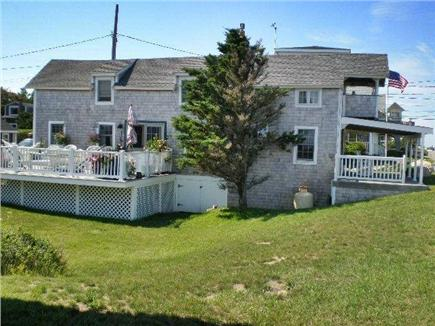 Oak Bluffs Martha's Vineyard vacation rental - Side yard &great deck views of Nantucket Sound & Farm Pond