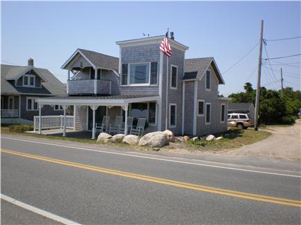 Oak Bluffs, Sea View Ave. just out of town Martha's Vineyard vacation rental - House from beach bulkhead