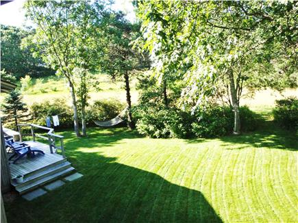 Edgartown Martha's Vineyard vacation rental - Backyard view from Upstairs deck