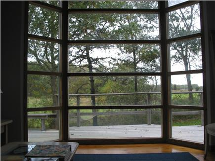 Edgartown Martha's Vineyard vacation rental - Window view from living room