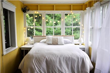 Oak Bluffs Martha's Vineyard vacation rental - Sunporch double bed - very airy and serene