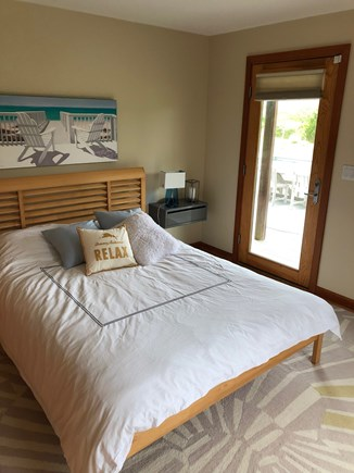 Katama - Edgartown Martha's Vineyard vacation rental - Nice size bedroom with access to pool and deck.