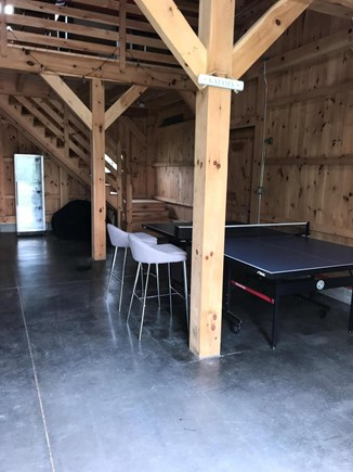 Katama - Edgartown Martha's Vineyard vacation rental - Post and Beam barn for recreation, games, gym and events.