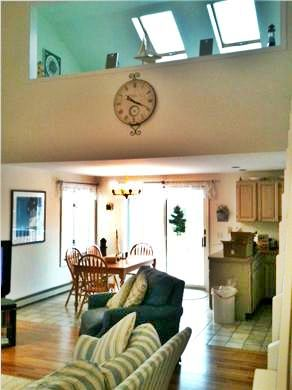 Edgartown Martha's Vineyard vacation rental - Dining area and loft above