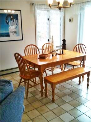 Edgartown Martha's Vineyard vacation rental - Dining area with sliders to deck