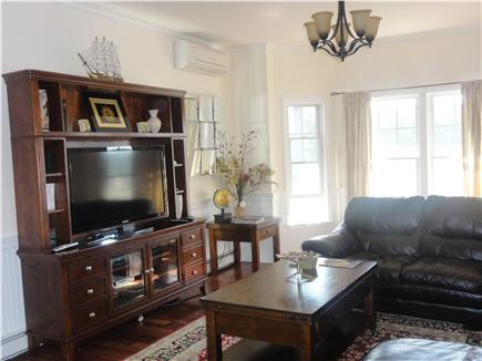 Oak Bluffs Martha's Vineyard vacation rental - First floor livingroom with large flat screen TV, wifi, dvd, wii