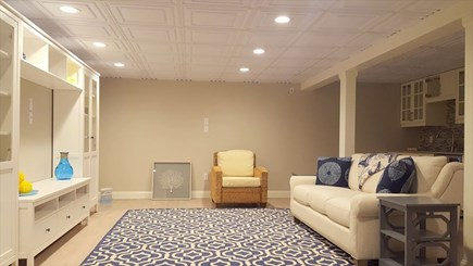 West Tisbury Martha's Vineyard vacation rental - Media room in basement  with large screen TV