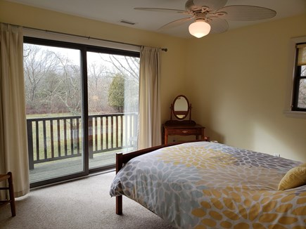 West Tisbury Martha's Vineyard vacation rental - Second sunny queen bedroom with private balcony