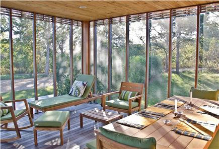 Chilmark Martha's Vineyard vacation rental - Screened in Porch