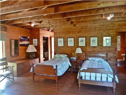 Chilmark Martha's Vineyard vacation rental - Main room sleeping area w/view facing south in separate Back Hous