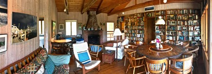 Chilmark Martha's Vineyard vacation rental - Living room, great room with fireplace