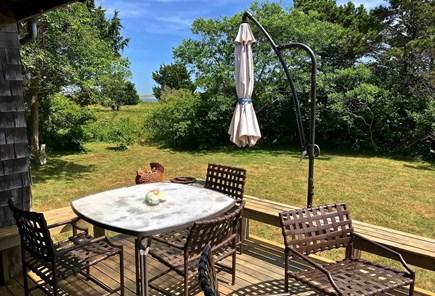 Chilmark Martha's Vineyard vacation rental - Front deck facing pond